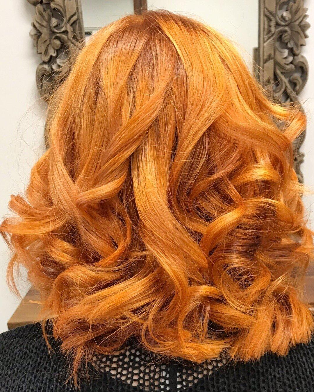 Kupfer Haarfarbe Friseur Hamburg