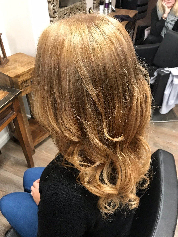 Kupfer blondes haar Friseur Hamburg