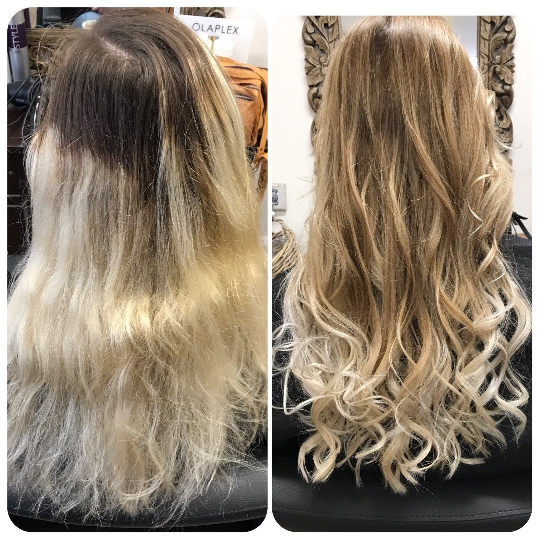 before after balayage Friseur Hamburg