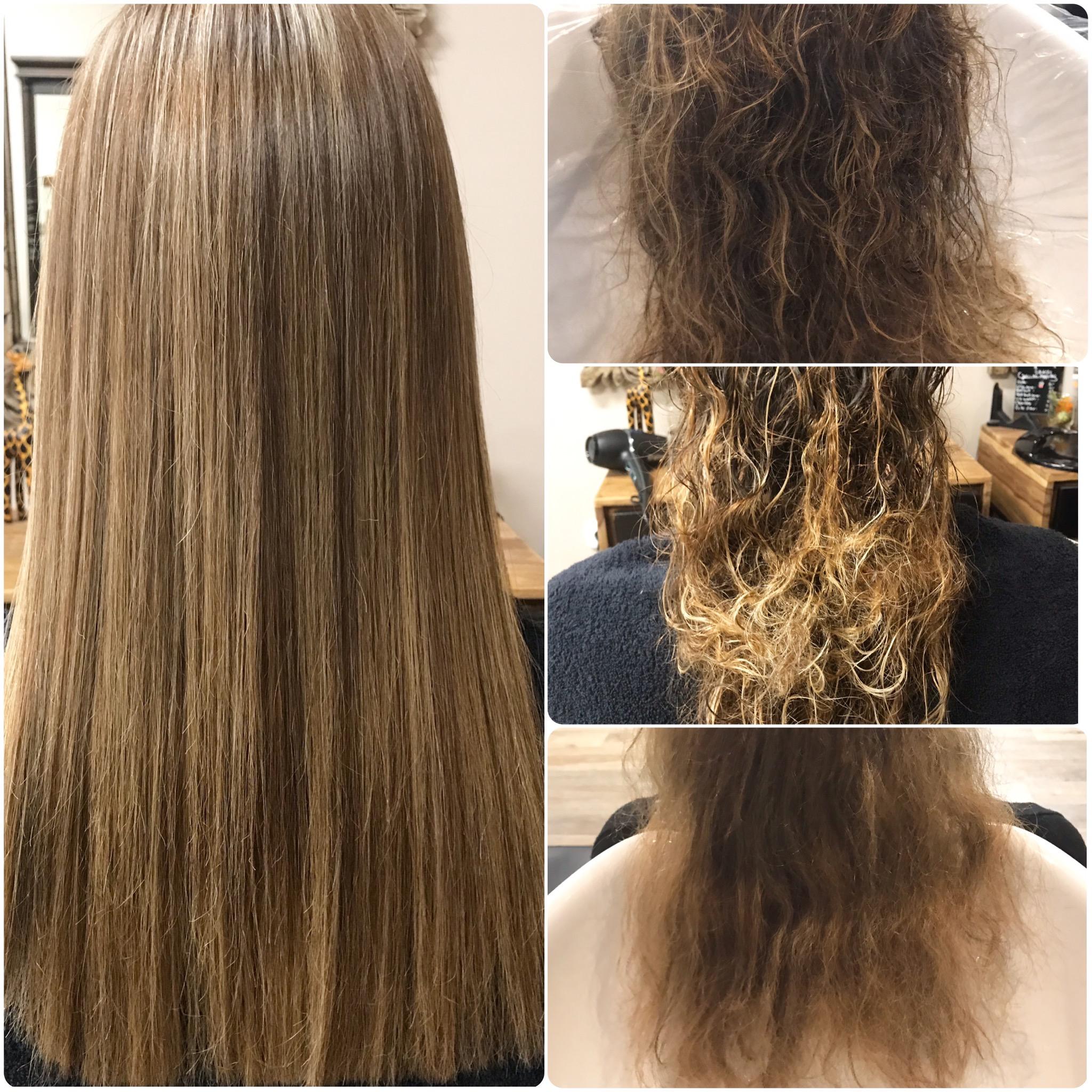 Happy Hair Harburg - Dauerhafte Haarglättung mit NEWSHA Vorher und Nachher Bild
